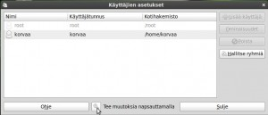 Käyttäjät ja kielet