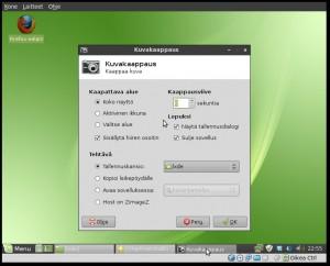LXDE:n kuvakaappaukset toimi xfce4-screenshooter mikä asennetaan Ohjelmistohallinnan kautta