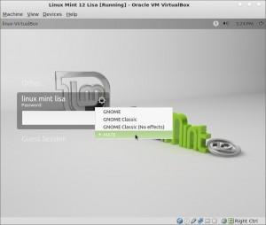Kirjaudu käyttämällä MATE Työpöytä, kirjoita salasana ja paina Enter.