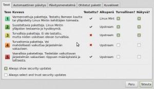 2 Linux Mint Päivitysten hallinta