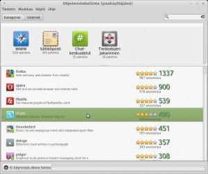 Ohjelmien asennus ja poisto internet-Ohjelmistohallinta