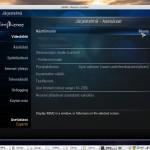 XBMC Media Center järjestelmä asetukset ikkuna