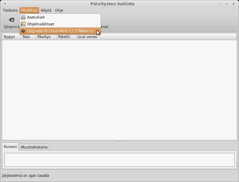 Päivitä Linux Mint 17 seuraavaan versioon - Linux Mint